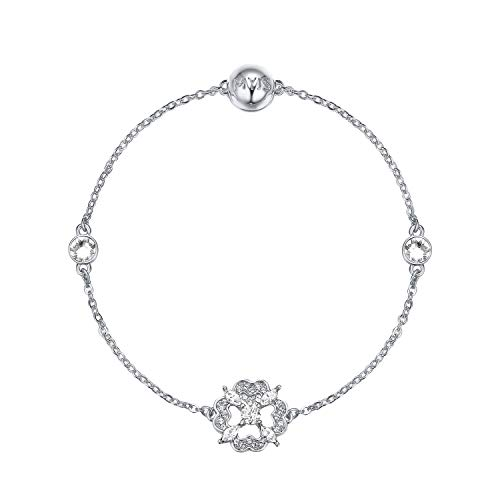 My Jewellery Story Mix Collection Brilliant Flower Strand with Swarovski Crystals Rhodium Plated