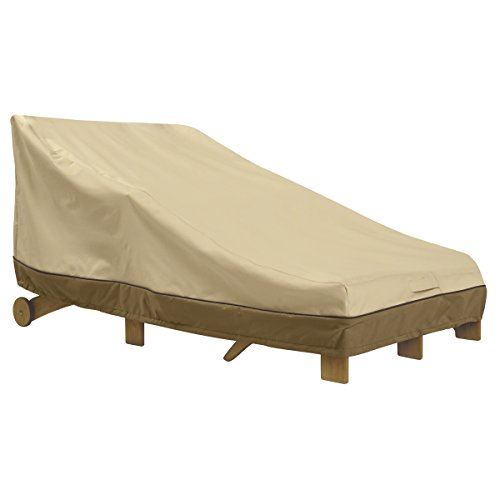 Classic Accessories 55-464-011501-00 Veranda Double Wide Patio Chaise Lounge Cover (Double Chaise Lounge Cover)