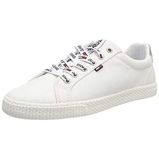 Hilfiger Denim Damen Tommy Jeans Casual Sneaker, Weiß (White 100), 42 EU 2