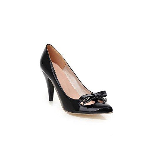Balamasa-dames Instapper Met Hoge Hakken Massief Zacht Materiaal Pumps-schoenen Zwart