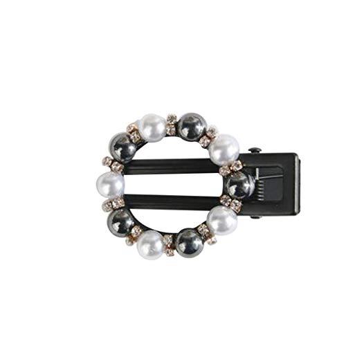 Pearl Hair Clip for Women Hair Pins for Girls Hair Decorative Black Pearl Geometric Hair Barrettes Fashion Styles (C)