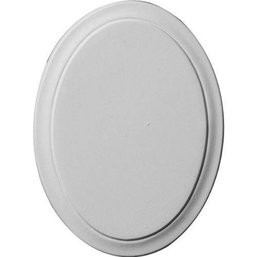 Ekena Millwork ROS06X05CL 6 1/8-Inch W X 4 1/2-Inch H X 3/8-Inch P Classic Oval Rosette