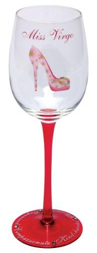 Santa Barbara Design Studio Christopher Vine Design Miss Zodiac Collection Wine Glass with Rhinestones, Miss - Design Christopher Vine