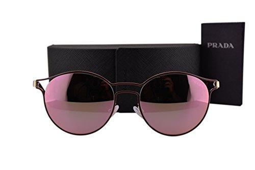 Prada PR62SS Cinema Sunglasses Bordeaux Pale Gold w/Gray Mirror Yellow Rose Lens USH5L2 ()