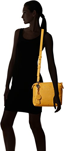 Liebeskind Embroidered Amber Leather Yellow Women's Arielle Crossbody Berlin qOx4aqIf
