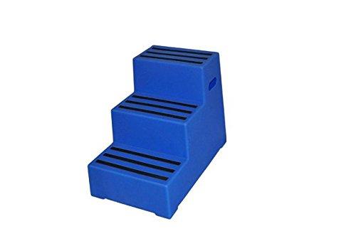 Aufstiegshilfe Exklusiv mit 3 Stufen. Blau