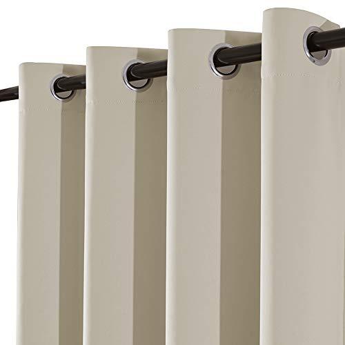 Yakamok Room Darkening Thermal Insulated Blackout Solid Curt