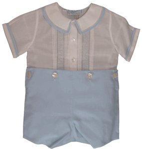 Feltman Brother Boys Blue /& White Bobbie Suit Dressy Outfit