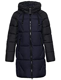 ICEbea Women's Thickened Down Jacket Hooded Mid-Length