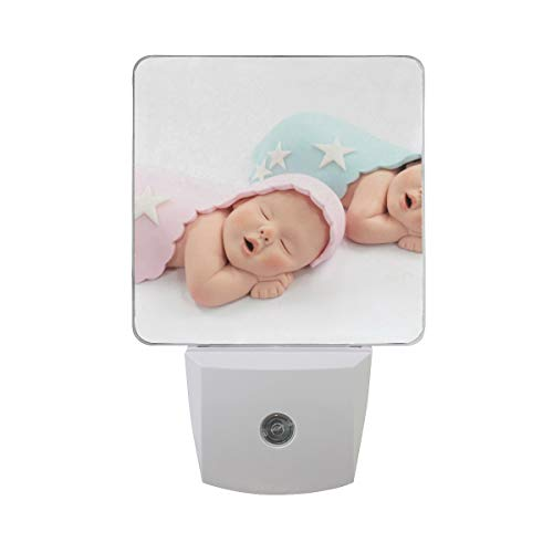 (OuLian Night Light Baby Twins Cake Led Light Lamp for Hallway, Kitchen, Bathroom, Bedroom, Stairs, DaylightWhite, Bedroom, Compact)