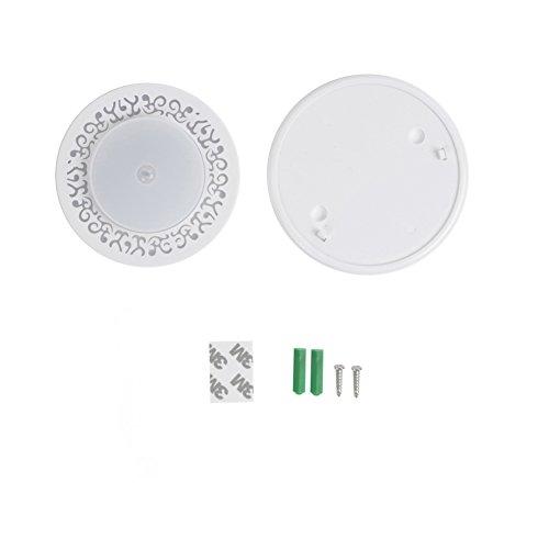 YESIDO LED Panel Light PIR Motion Sensor Body Detector Surface Mounted Lights Round Flush Mount Light Dimmable for Corridor Stairs Depot Bathroom Toilet Children Room (White) by YESIDO