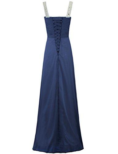 Sleeveless Chiffon Women's Navy Bead Neck Dresses Long ANTS Wedding Party ItHO4Iqw