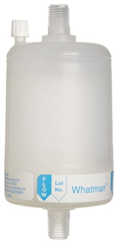 Whatman 2702M Polycap TF 75 PTFE Membrane Capsule Filter with MNPT Inlet and Outlet, 60 psi Maximum Pressure, 0.2 Micron (Pack of 5) by Whatman