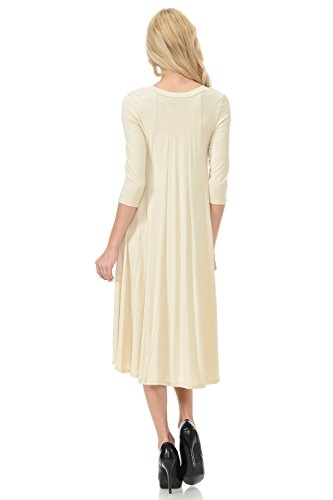 in 25 USA Colors Line Midi Dress Women's Made A Cream by Vivienne Trapeze Pastel UBHPzz