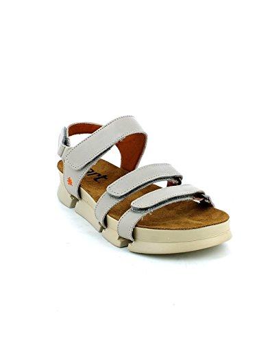 In Sandalo Strappi Chiaro Pelle Con Grigio Art vqxO1wU1