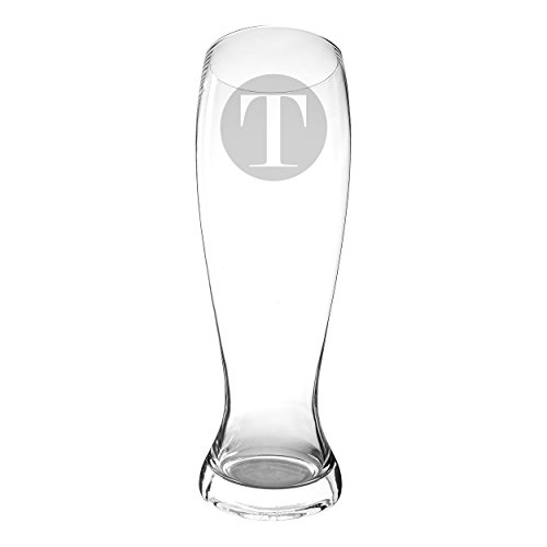 Concepts Glasses Cathys Pilsner - Cathy's Concepts Personalized XL Pilsner Beer Glass, Letter T