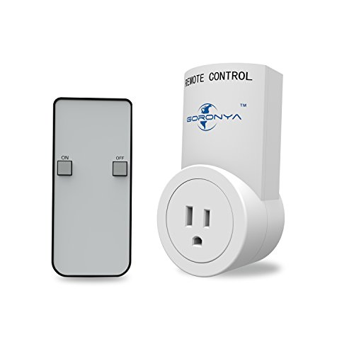 goronya wireless outlet switch with remote electrical plug. Black Bedroom Furniture Sets. Home Design Ideas