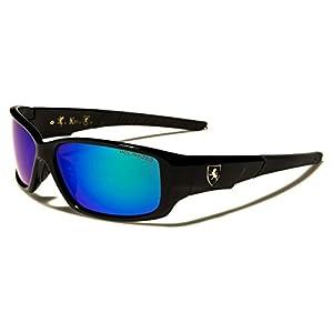 Polarized Rectangle Frame Sport Fishing Running Baseball Sunglasses Color Mirrored Lens