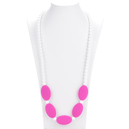 Consider It Maid Baby/Toddler Silicone Teething Necklace - Mix It Up Collection (Violet - Violet Collection