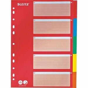 Leitz 25 25 25 x Register A4 Karton 160g qm 5-teilig farbig B0095GX57U | Für Ihre Wahl  d08e6b