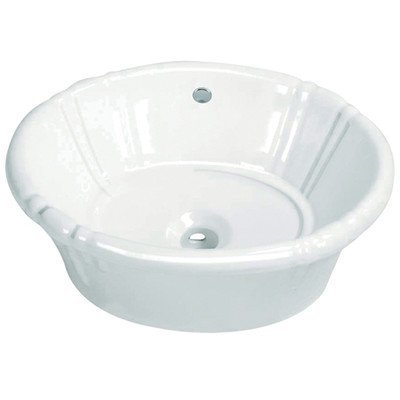 Console Sinks Bone Vitreous China (Fauceture Vintage EV18157 Vitreous China Single Bowl Lavatory Sink, White)