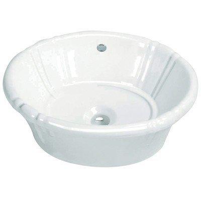 Kingston Brass EV18157 Vintage Vitreous China Single Bowl Lavatory Sink (Vitreous Bowl)