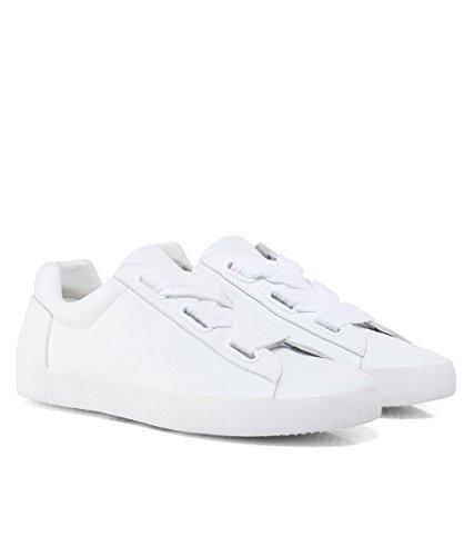 Femme Blanc Blanc Cuir en Nina Chaussures Baskets Ash R86nvPYq