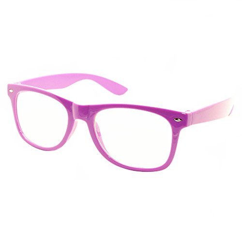 FancyG Classic Retro Fashion Style Clear Lenses Glasses Frame Eyewear - - Glasses Nerd Purple
