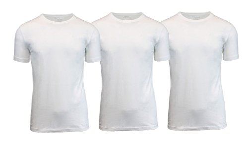 Galaxy By Harvic Mens Crew Neck Undershirts Size X-Large (3-pack)