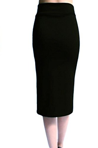 Faldas de Bodycon Midi elegante de las mujeres Black