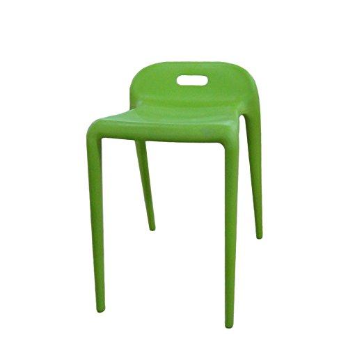 Mod Made E-Z Modern Stacking Stool Chair (2 Pack), Green
