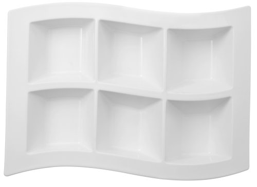 Villeroy & Boch New Wave 16 by 11-3/4-Inch 6 Part Divided - Divided Part Serving Tray