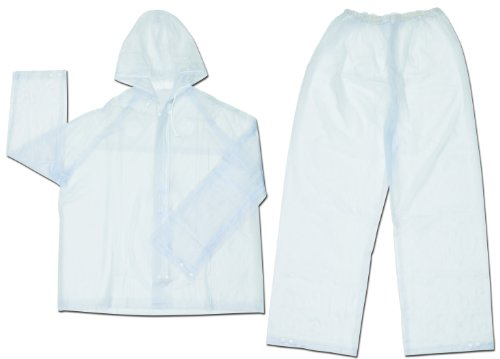 Mcr Safety O722X2 Squall PVC Single Ply 2-Piece Rainsuit,...