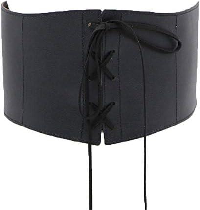 [해외]Simple lace bow ladies wide waist seal thin pu skirt fashion simple wide belt / Simple lace bow ladies wide waist seal thin pu skirt fashion simple wide belt