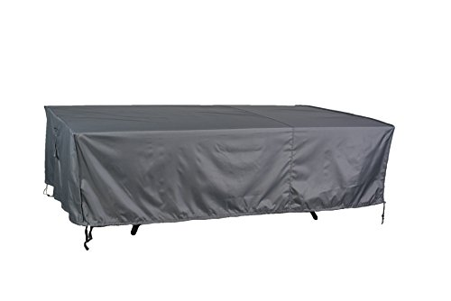 Hentex Cover Outdoor Table Cover with Rip Stop, Water Resistant, Breathable, 2 Layer with TPU fabric (Rectangle 130''84''24'') by Hentex Cover