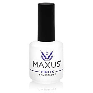 Maxus Nails Finito Top Coat Nail Polish, High Shine, Quick-Drying, 0.5 Fl. Oz.