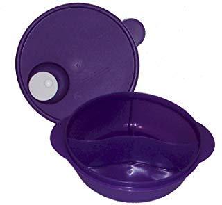 - Tupperware CrystalWave Microwave Lunch N Dish Divided Bowl Purple