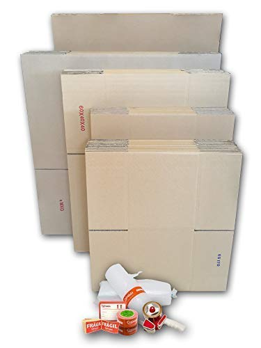 Cajas Cartón para Mudanzas (Pack GRAN MUDANZA de 60 Cajas + Accesorios) - Cajas