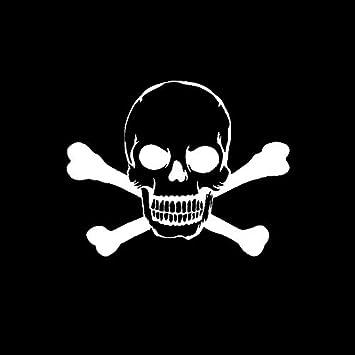 Color : White Personalized car stickers Etiqueta de la historieta del pirata del cr/áneo calcoman/ías pegatinas de coches de vinilo ara/ñazos 14.9CMX11.8CM csfssd