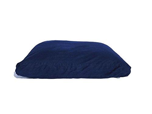 YAWP Memory Foam Pet Bed Pillow with Waterproof Internal Cover and Heavy Duty Denim Cover + Bonus Vacuum Storage Bag (55X37X4, Blue Jean Denim) by YAWP (Image #2)
