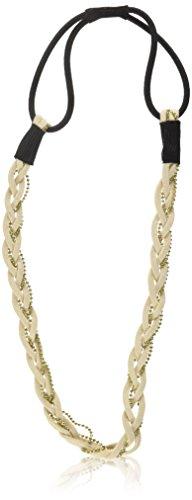 Caravan Headband, Braid Cream Gold Stretch
