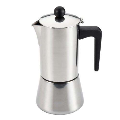 Bonjour 6-Cup Stovetop Espresso Maker Stainless Steel 53917