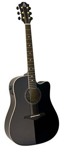Hohner Guitars A+ by Hohner AS355CE-BK Acoustic-Electric Guitar, ,