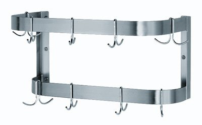 Wall Mounted Commercial Stainless Steel Pot Rack - 48