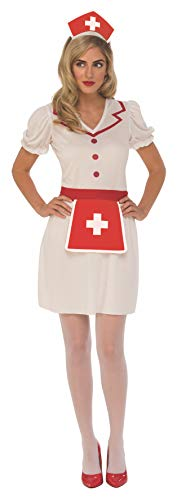 Rubie's Costume Co Women's Nurse, White/Red, Small