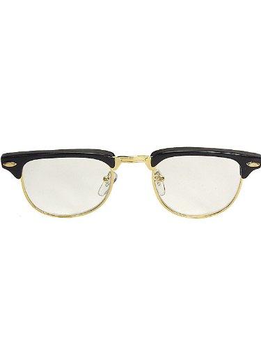 Mr. 50s Black Glasses (Halloween Costumes 50s)