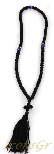 Handmade Christian Orthodox Greek Komboskoini,prayer Rope 100knots Pentant Black