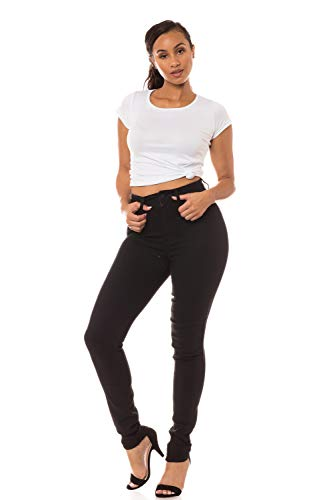 Aphrodite High Waisted Jeans for Women - High Rise Waist Skinny Womens Jeans with Faux Front Pockets 4263 Black 15