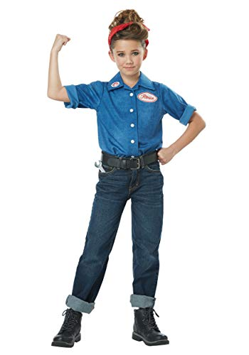 Girls Rosie the Riveter Costume X-Large