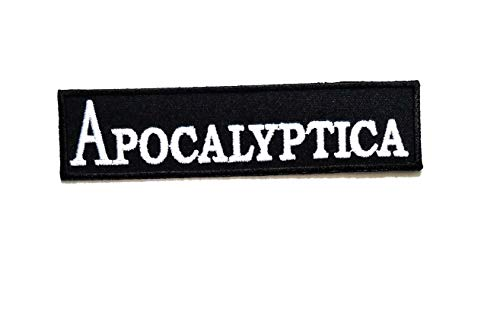 Nipitshop Patches Apocalyptica Funny Joyful Words Motorcycle MC Club Biker Patch Embroidered Iron On Patch for Clothes Backpacks T-Shirt Jeans Skirt Vests Scarf Hat Bag